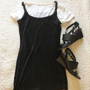 Vintage 90s Velvet Mini Dress